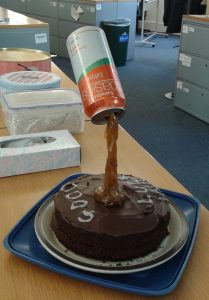Cake played a prominent part in my celebrations......this from Mrs P, a very lovely ex colleague....